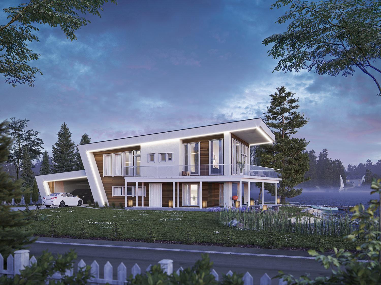 Arkitekturvisualisering: bolig 9