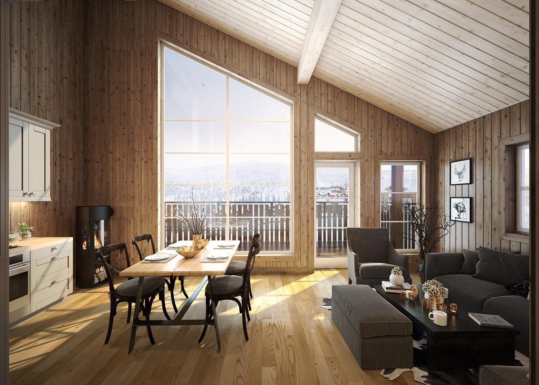 Arkitekturvisualisering: interiør 1