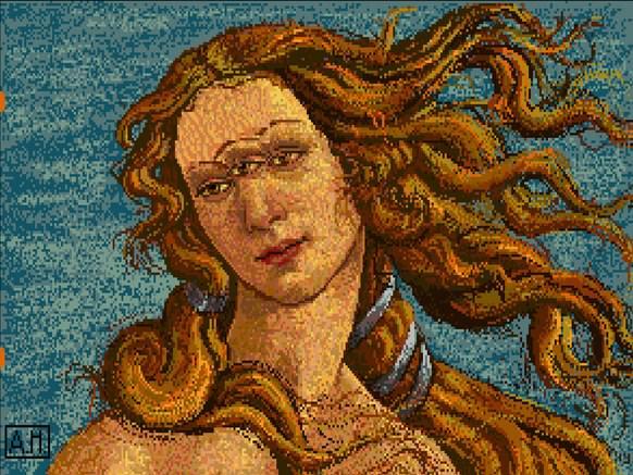 Warhol: Venus tegnet med Amiga 1000