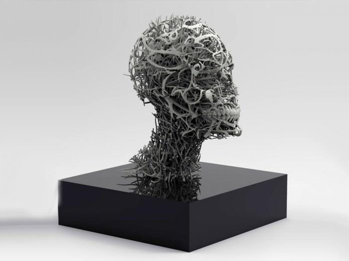 3D-print: byste med særegent visuelt uttrykk
