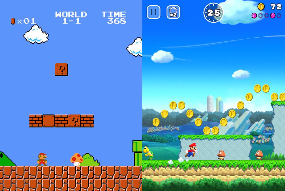 1986 vs 2016: Super Mario
