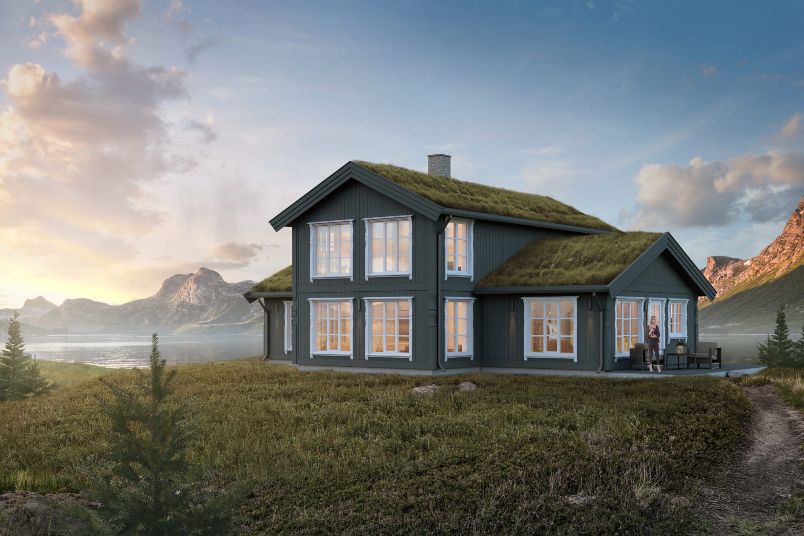 3D-visualisering for Hus 1 Norge