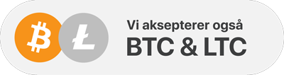 Bitcoin and Litecoin accepted